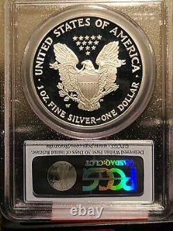 2006-W American Silver Eagle PCGS MS70 PR70 Rev PR70 20th Anniversary 3 Coin Set