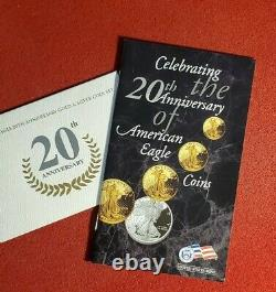 2006 W US American Eagle 20th Anniversary Gold & Silver 2 Coin Set NGC MS70 MS69