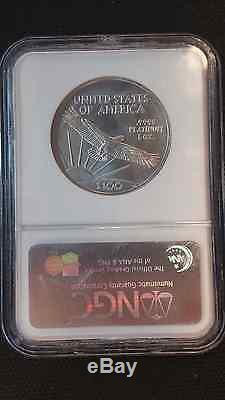 2007-W 1 oz Burnished Platinum American Eagle MS-70 NGC