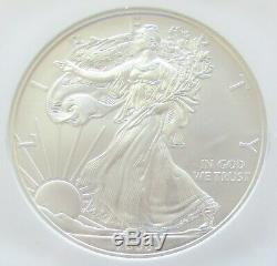 2008 $1 American Silver Eagle Rev Of 07 Early Release 1 Oz. 999 Silver NGC MS70