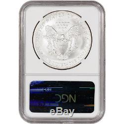 2008-W American Silver Eagle Burnished Reverse of 07 NGC MS70