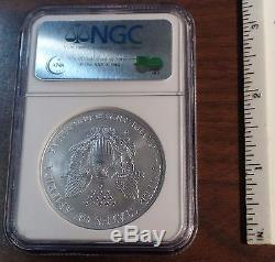 2008-W American Silver Eagle Dollar Reverse of 2007 ERROR COIN NGC MS 69