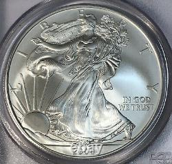 2008 W American Silver Eagle Reverse Of 2007 PCGS MS 69