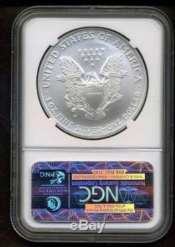 2008-W BURNISHED AMERICAN SILVER EAGLE REVERSE of 2007 NGC MS70 ERROR