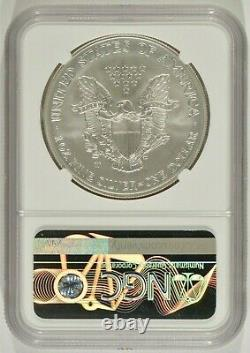 2008-W Burnished American Silver Eagle Reverse of 2007 $1 NGC MS70 6269326-004