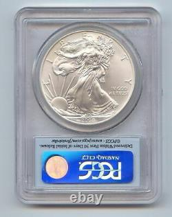 2008-W Burnished American Silver Eagle Reverse of 2007, PCGS MS-69 First Strike
