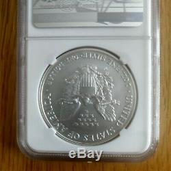 2008-W Reverse of 07 NGC MS 70 American Silver Eagle Reverse