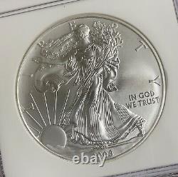 2008 W Reverse of 2007 1 oz. 999 Burnished Silver American Eagle NGC MS70