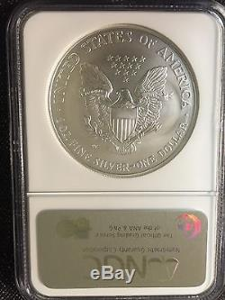 2008-W Reverse of 2007 American Silver Eagle NGC MS 70