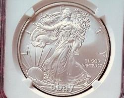 2008 W Reverse of 2007 Burnished 1 Oz American Silver Eagle NGC MS 70 Awesome