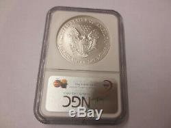 2008-W (Reverse of 2007) Silver American Eagle NGC MS-69 (PRISTINE)