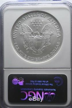 2008 W Reverse of 2007 Silver American Eagle NGC MS69 Early Release 1 oz Silver