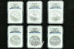 2010 Silver American Eagle Set of 20 SAE Box #1 #20 Early Release NGC MS-69
