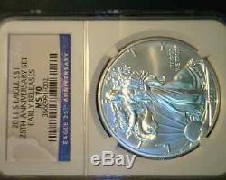2011 25th Anniversary Early Release American Silver Eagle Set MS 70 PF70 NGC