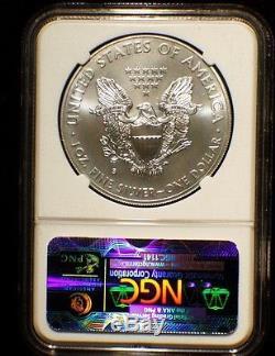 2011 5-Coin American Silver Eagle Set MS/PF-70 NGC (25th Anniv)