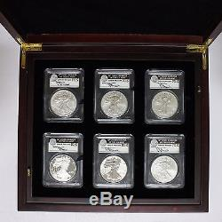2011 American Eagle 25th Anniversary 10 Coin Set MS 70 PCGS Signed Mercanti