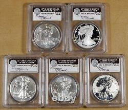 2011 American Eagle Silver Dollar 25th Anniversary Set PCGS MS70 & PR70 Mercanti