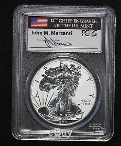 2011 American Silver Eagle 25th Anniversary Silver Coin Set PCGS MS/PF/RP70