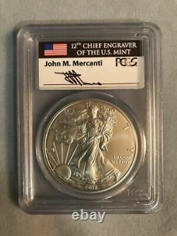 2011 S American Eagle PCGS MS69 Signed by 12th Chief Engraver John M. Mercanti