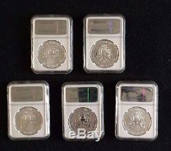 2011 Silver American Eagle 25th Anniversary 5-Coin Set MS70/PF70 Early Releases