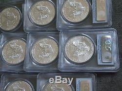 2011 (W) SILVER AMERICAN EAGLE FS PCGS MS69 LOT OF 20 A RARE FIND POP 419