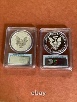 2013 American Eagle West Point Silver 2-Coin Set US Flag First Strike PF70 MS70