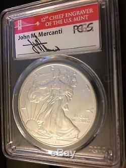 2013-(S) Silver American Eagle struck at San Francisco PCGS MS70 Mercanti FS