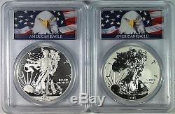 2013-W $1 West Point Mint Enhanced Set American Silver Eagle PCGS MS70/PR70