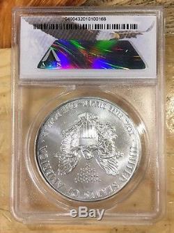 2015 (P) $1 American Silver Eagle ANACS MS70-1 Of 79,640 Minted! RARE