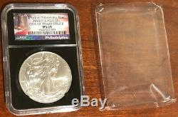 2015 P $1 Silver American Eagle Ms69 1 Of 79,640 Struck