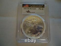 2015(P) American Eagle Silver $1, MS 69 Mercanti MINT ENGRAVER SERIES PCGS