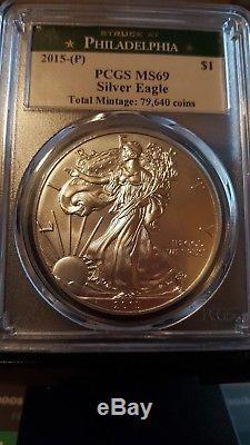 2015 P American Silver Eagle PCGS MS 69
