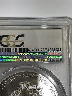2015 (P) American Silver Eagle PCGS MS-70 Mintage Of 79,640