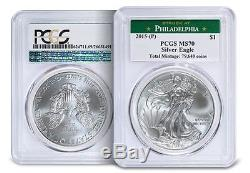 2015 (P) American Silver Eagle PCGS MS-70 THE RAREST MINT STATE EAGLE EVER