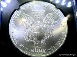 2015 (P) American Silver Eagle POP 314 JOHN MERCANTI FLAG LABEL REV IS Ms 70 NGC