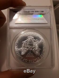 2015 P American Silver Eagle. Super Rare. ANACS MS69 Flag Label