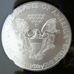 2015 P RAREST American Silver Eagle NGC MS70 hand Signed by Mercanti