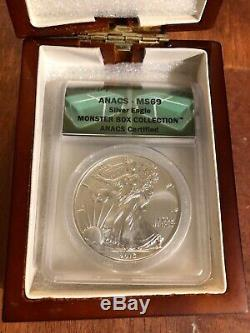 2015-(P) Silver American Eagle ANACS MS69 Only 79,640 coins minted Philadelphia