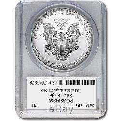 2015-P Silver American Eagle Mercanti PCGS MS69