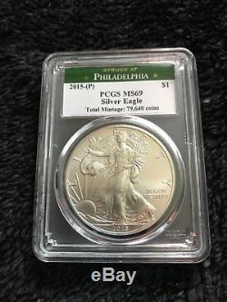 2015 Silver American Eagle (P) PCGS MS69