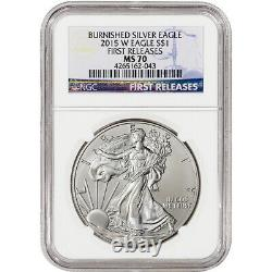 2015 W American Silver Eagle Burnished NGC MS70 First Releases