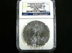 2015 W Burnished Silver American Eagle Annual Dollar Set NGC Ms 70 ER