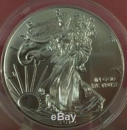 2015-p American Silver Eagle $ Anacs Ms 69 Struck At Philadelphia Mint Bin Free