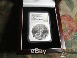 2015 (p) American Silver Eagle Ngc Ms 70