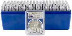 2016 $1 American Silver Eagle PCGS MS70 FS 30th Anniversary Label Box of 20
