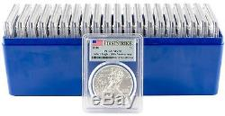 2016 $1 American Silver Eagle PCGS MS70 First Strike Flag Label Box of 20