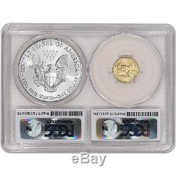 2016 American Eagle Gold & Silver Bimetallic Set PCGS MS70 First Day Issue