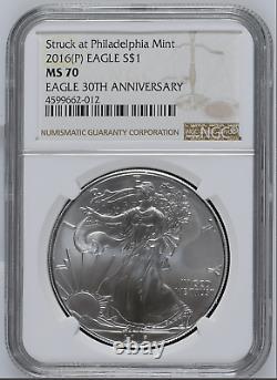 2016 (P) American Silver Eagle NGC MS70 Struck at Philadelphia Mint