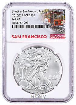 2016-(S) American Silver Eagle NGC MS70 Trolley Label SKU46776