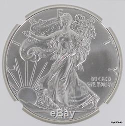2016 Silver American Eagle NGC MS69 Mint Error Early Release Reverse Struck Thru